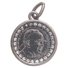 Medal in 800 silver with Pope Francis 1.7cm s1