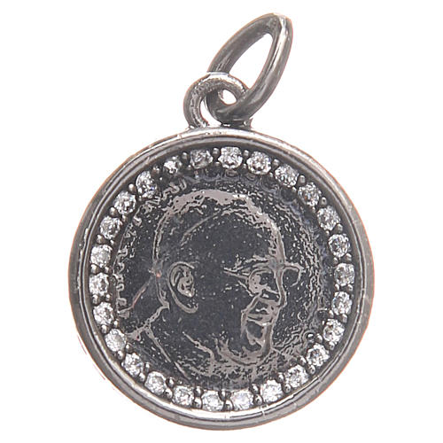 Medal in 800 silver with Pope Francis 1.7cm 1
