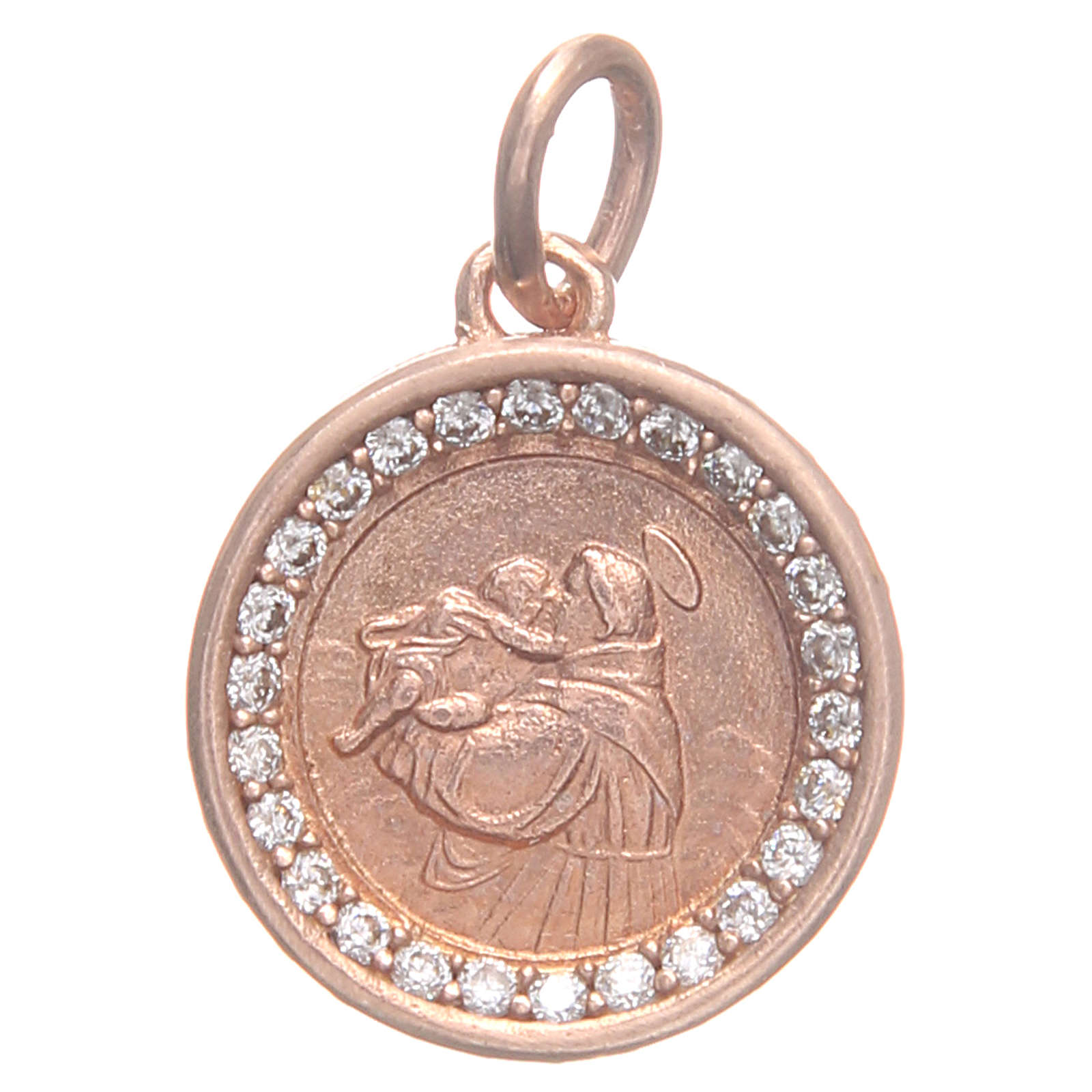 Medal in 800 silver with Saint Anthony of Padua 1.7cm 4