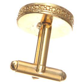 Boutons de manchettes arg 800 doré symbole Pax 1,7 cm s2