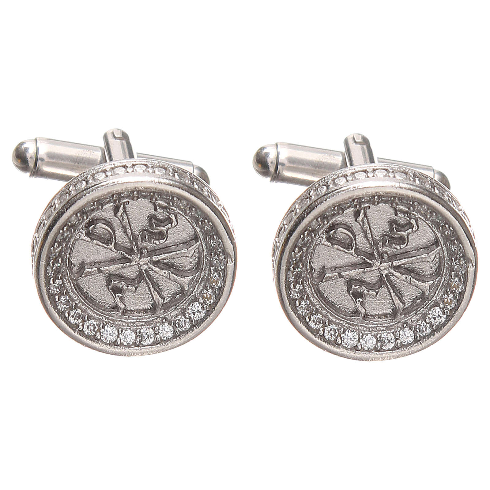 Cufflinks for men Silver 800, PAX symbol 1,7cm 4