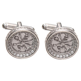 Cufflinks for men Silver 800, PAX symbol 1,7cm s1