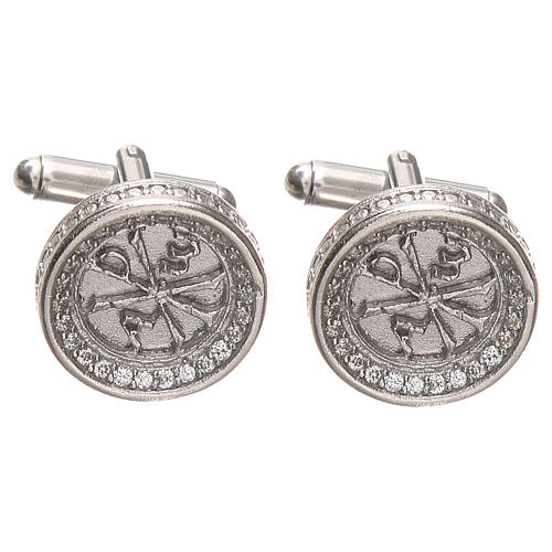 Cufflinks for men Silver 800, PAX symbol 1,7cm 1