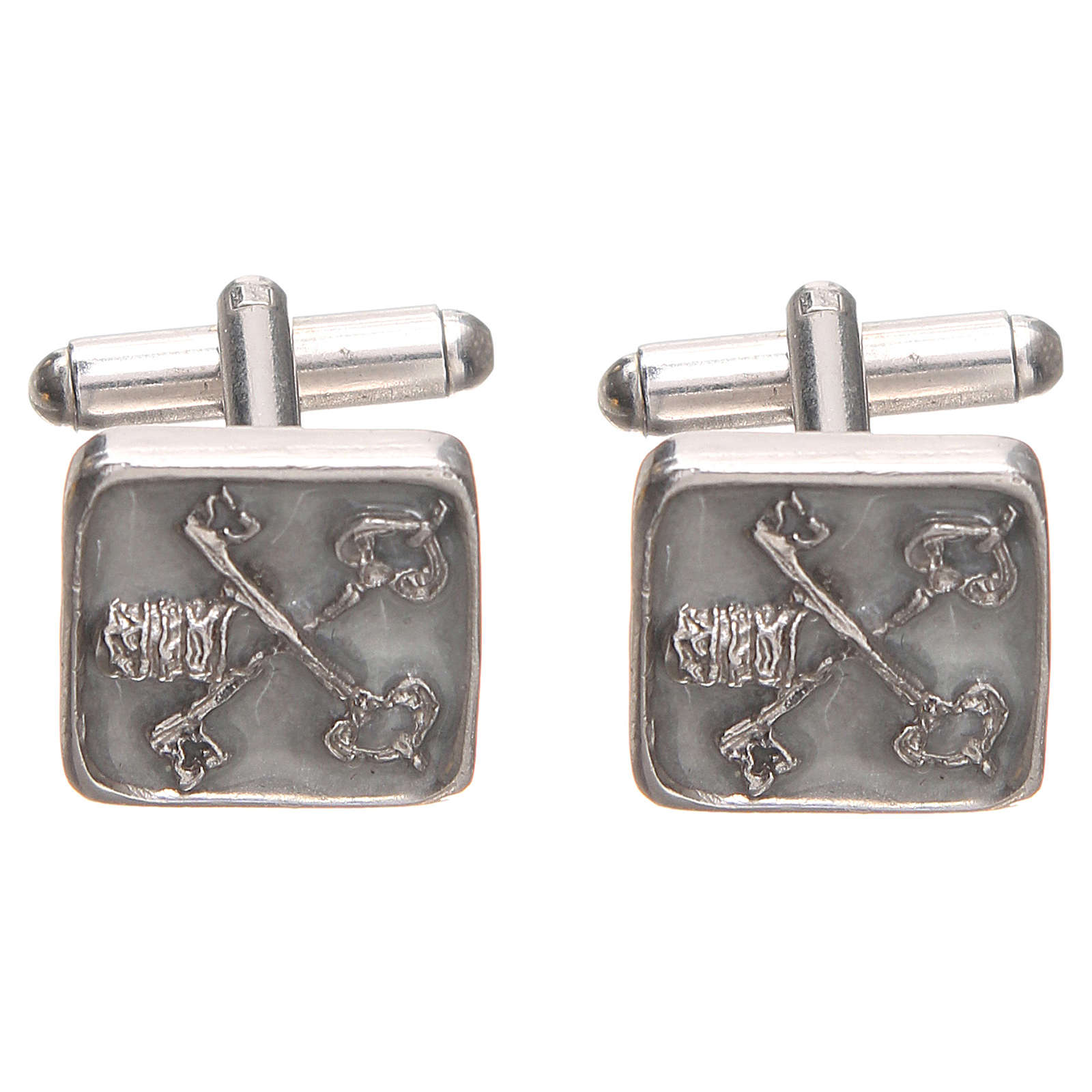 Cufflinks Silver 800 Vatican City keys 1,5x1,5cm 4