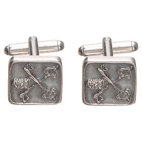 Cufflinks Silver 800 Vatican City keys 1,5x1,5cm s1