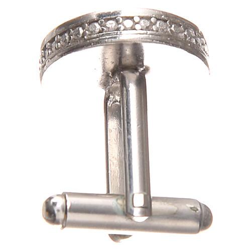 Cufflinks Silver 800, Pope Francis 1,7cm 2