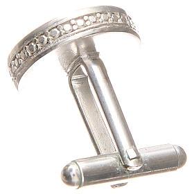 Gemelli da polso argento 800 rodiato Sant'Antonio Padova 1,7 cm s2