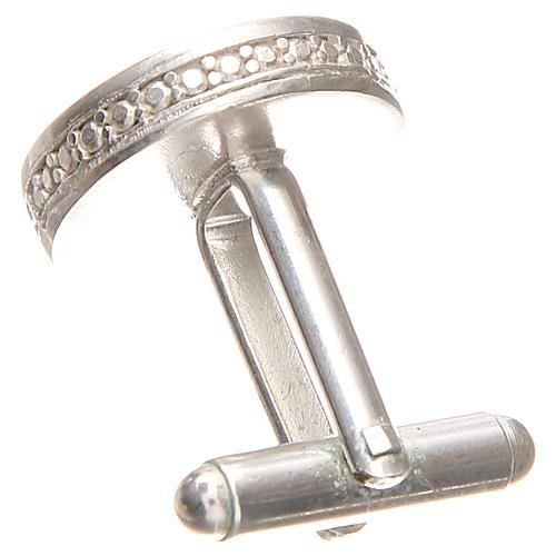 Gemelli da polso argento 800 rodiato Sant'Antonio Padova 1,7 cm 2