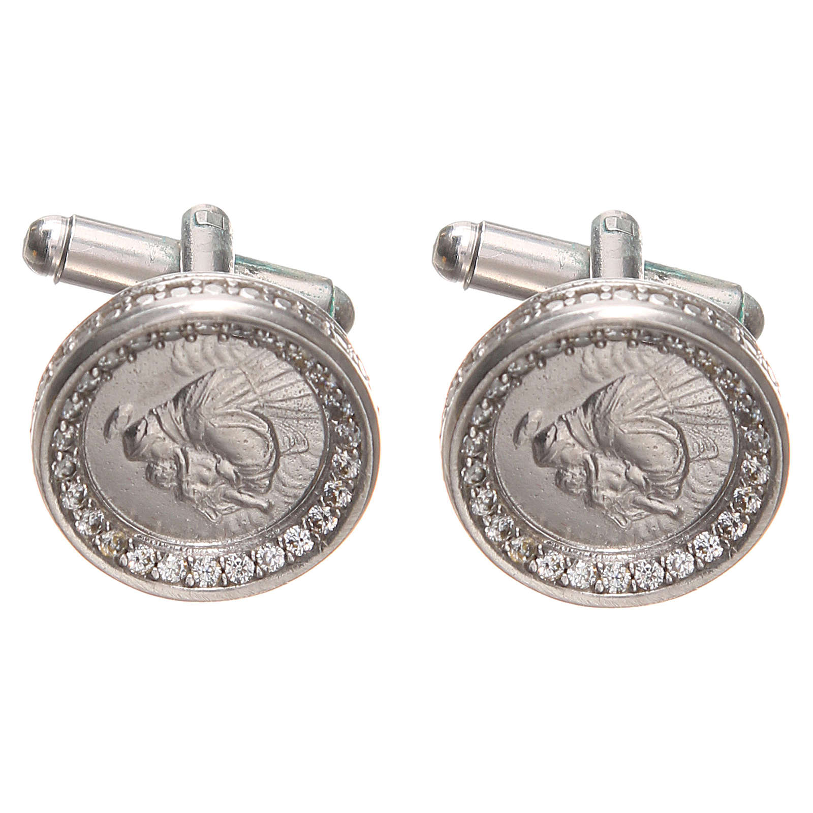 Cufflinks Silver 800, St. Anthony of Padua 1,7cm 4
