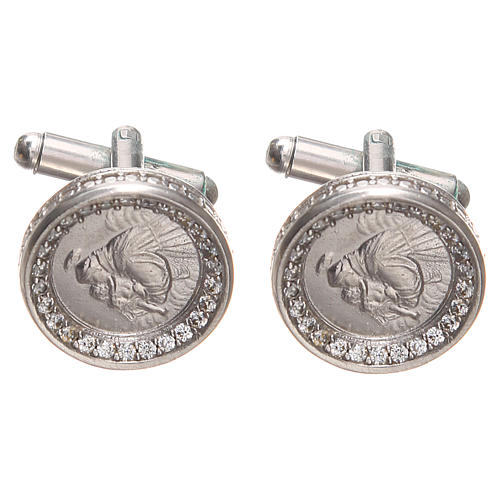 Cufflinks Silver 800, St. Anthony of Padua 1,7cm 1