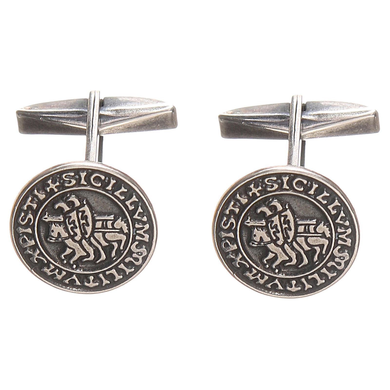 Gemelli per camicia argento 925 Sigillum Militum Xpisti 1,6 cm 4