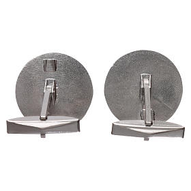 Cufflinks Silver 925 rhodium-plated, Jerusalem Cross 1,9cm s3