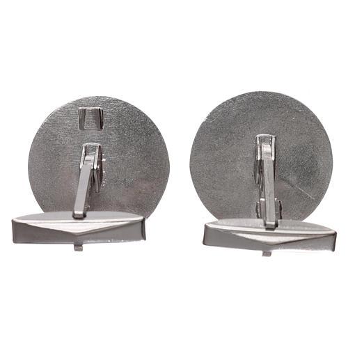 Cufflinks Silver 925 rhodium-plated, Jerusalem Cross 1,9cm 3