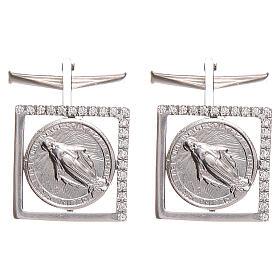 Cufflinks Silver 925, Miraculous Madonna 1,7x1,7cm s1