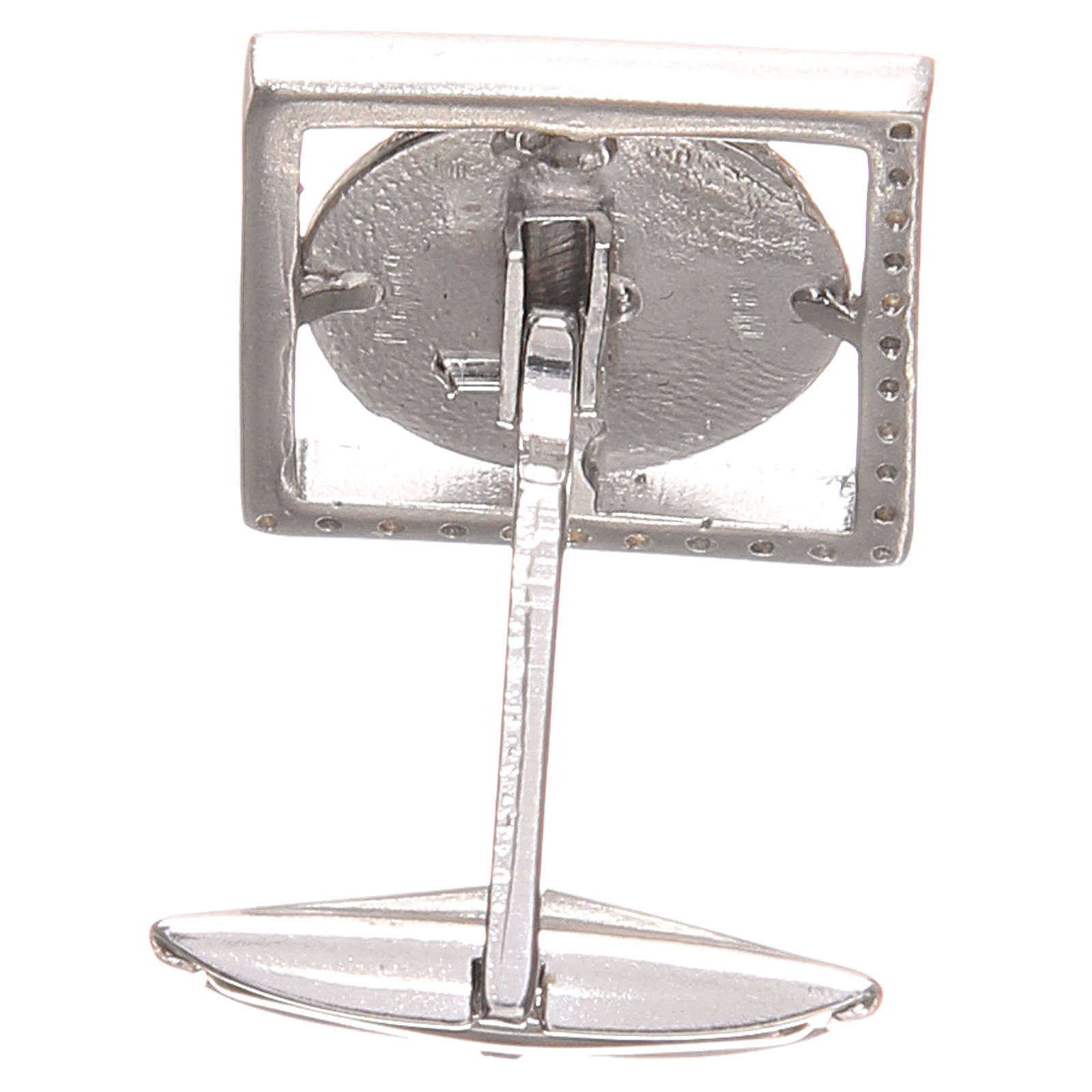 Gemelli camicia argento 925 Madonna Miracolosa 1,7x1,7 cm 4