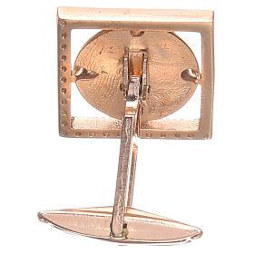 Spinki biżuteria srebro 800 Cudowna Madonna 1.7x1.7 cm s2