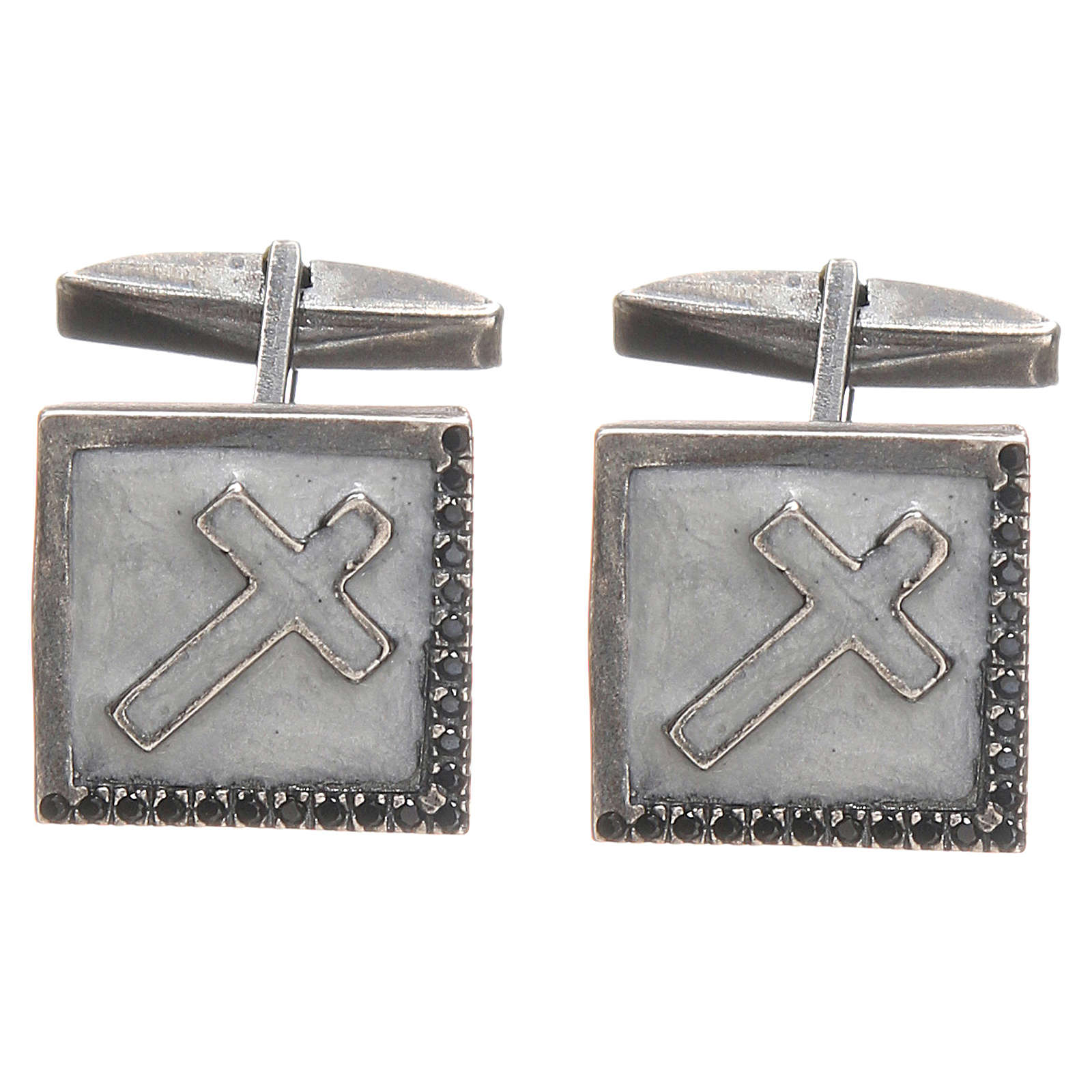 Spinki biżuteria srebro 925 Krzyż 1.6x1.6 cm 4