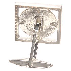 Gemelli in argento 800 rodiato Papa Francesco 1,8x1,8 cm s2