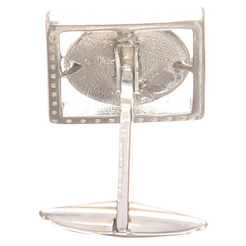 Gemelos joyas plata 925 rodiada San Antonio de Padua 1,7 x 1,7 cm 2