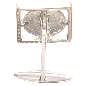 Gemelli gioielli argento 800 rod Sant'Antonio Padova 1,7x1,7 cm s2