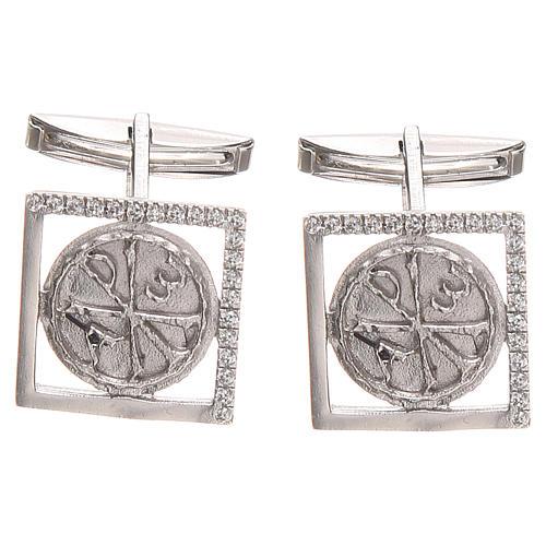 Spinki biżuteria srebro 925 symbol PAX 1.7x1.7 cm 1