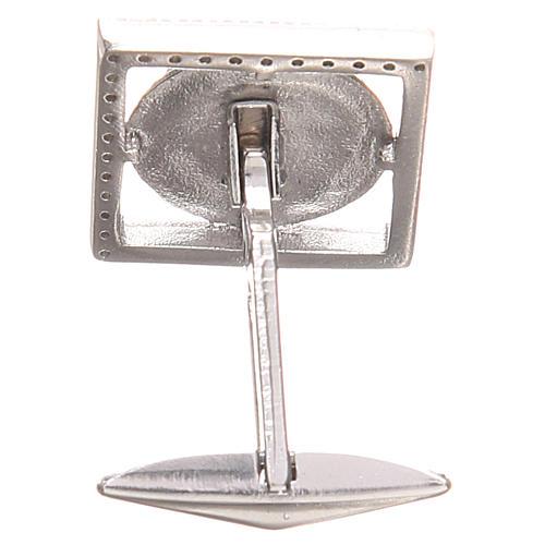 Spinki biżuteria srebro 925 symbol PAX 1.7x1.7 cm 2