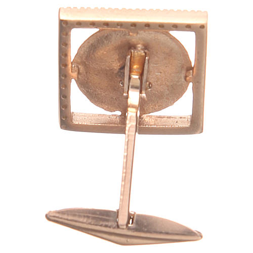 Cufflinks Silver 800 rosé, PAX symbol 1,7x1,7cm 2