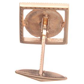 Gemelli gioielli argento 800 rosè simbolo PAX 1,7x1,7 cm s2