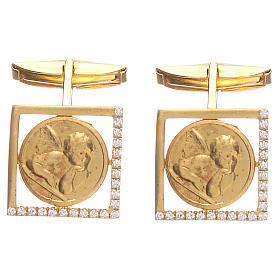 Mancuernillas joyas plata 925 Ángel Rafael 1,7x1,7 cm s1