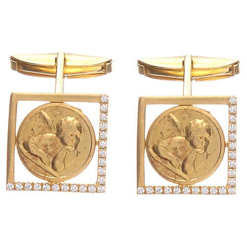 Mancuernillas joyas plata 925 Ángel Rafael 1,7x1,7 cm 1