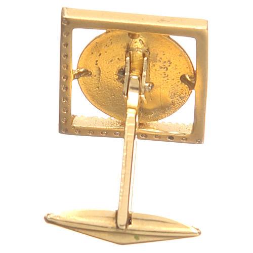 Mancuernillas joyas plata 925 Ángel Rafael 1,7x1,7 cm 2