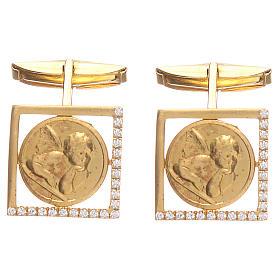 Spinki biżuteria srebro 925 Anioł Raffaella 1.7x1.7 cm s1