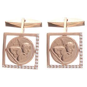 Spinki do koszuli srebro 800 Anioł Raffaella 1.7x1.7 cm s1