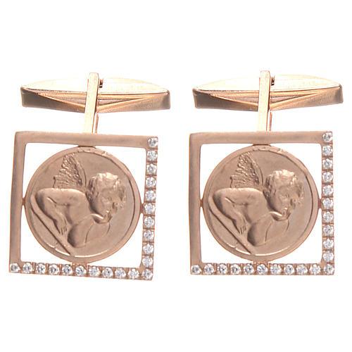 Spinki do koszuli srebro 800 Anioł Raffaella 1.7x1.7 cm 1