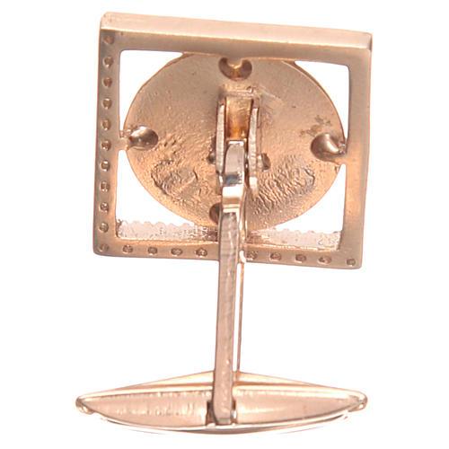 Spinki do koszuli srebro 800 Anioł Raffaella 1.7x1.7 cm 2