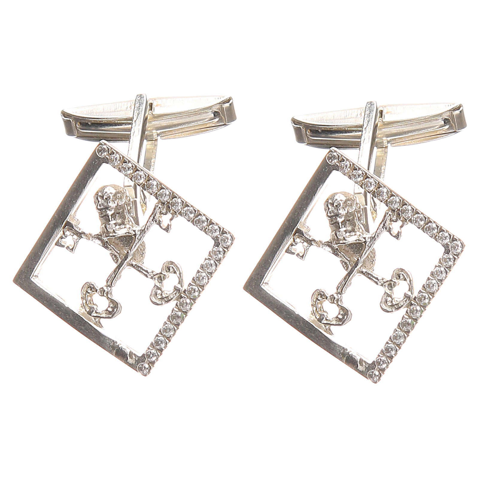 Cufflinks for shirts, Silver 925 Vatican City keys 1,7x1,7cm 4
