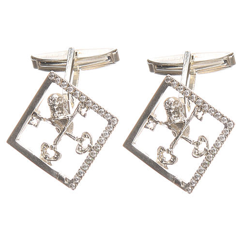 Cufflinks for shirts, Silver 925 Vatican City keys 1,7x1,7cm 1