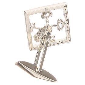 Boutons manchettes bijoux arg 925 rhodié Clés Vatican 1,7x1,7 cm s2