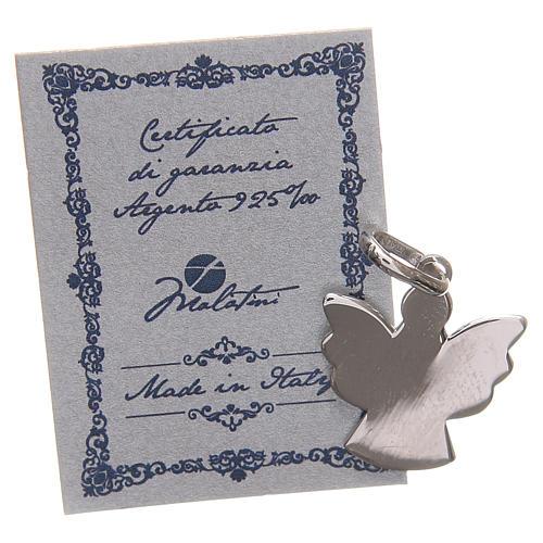Ciondolo angelo argento 925 con preghiera angelo di Dio 1,7 cm 2