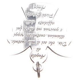 Ciondolo angelo argento 925 con preghiera angelo di Dio 2,7 cm s4