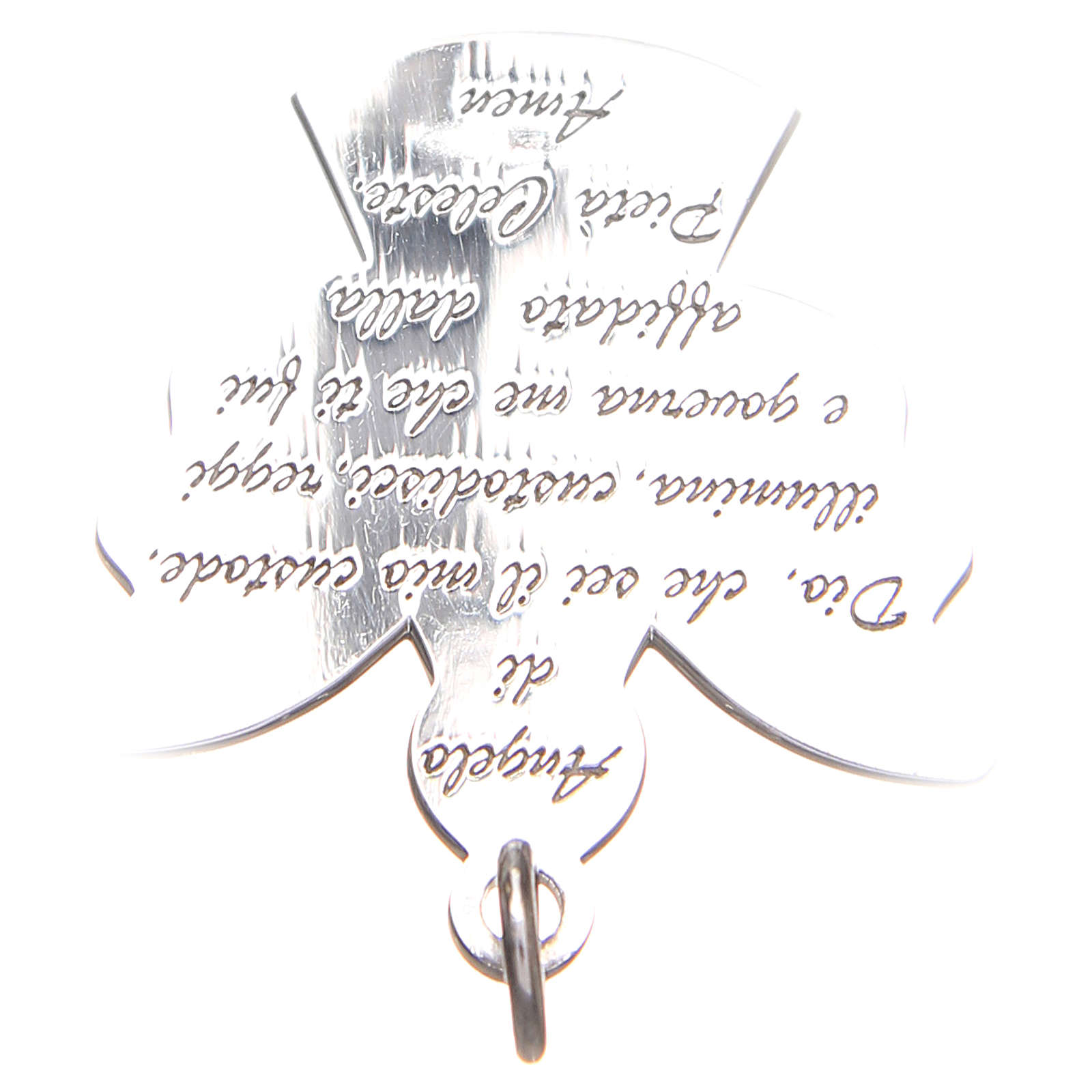 Angel pendant, Silver 925 Guardian Angel prayer ITA 2,7cm 4