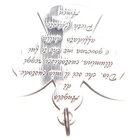 Angel pendant, Silver 925 Guardian Angel prayer ITA 2,7cm s4