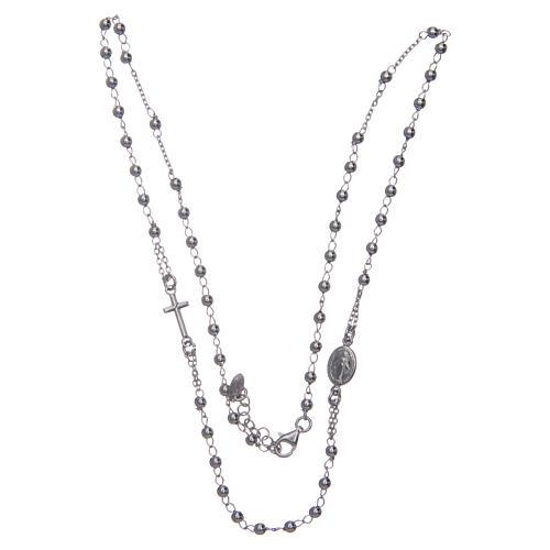 Collana rosario girocollo AMEN argento 925 fin. Rodio 3
