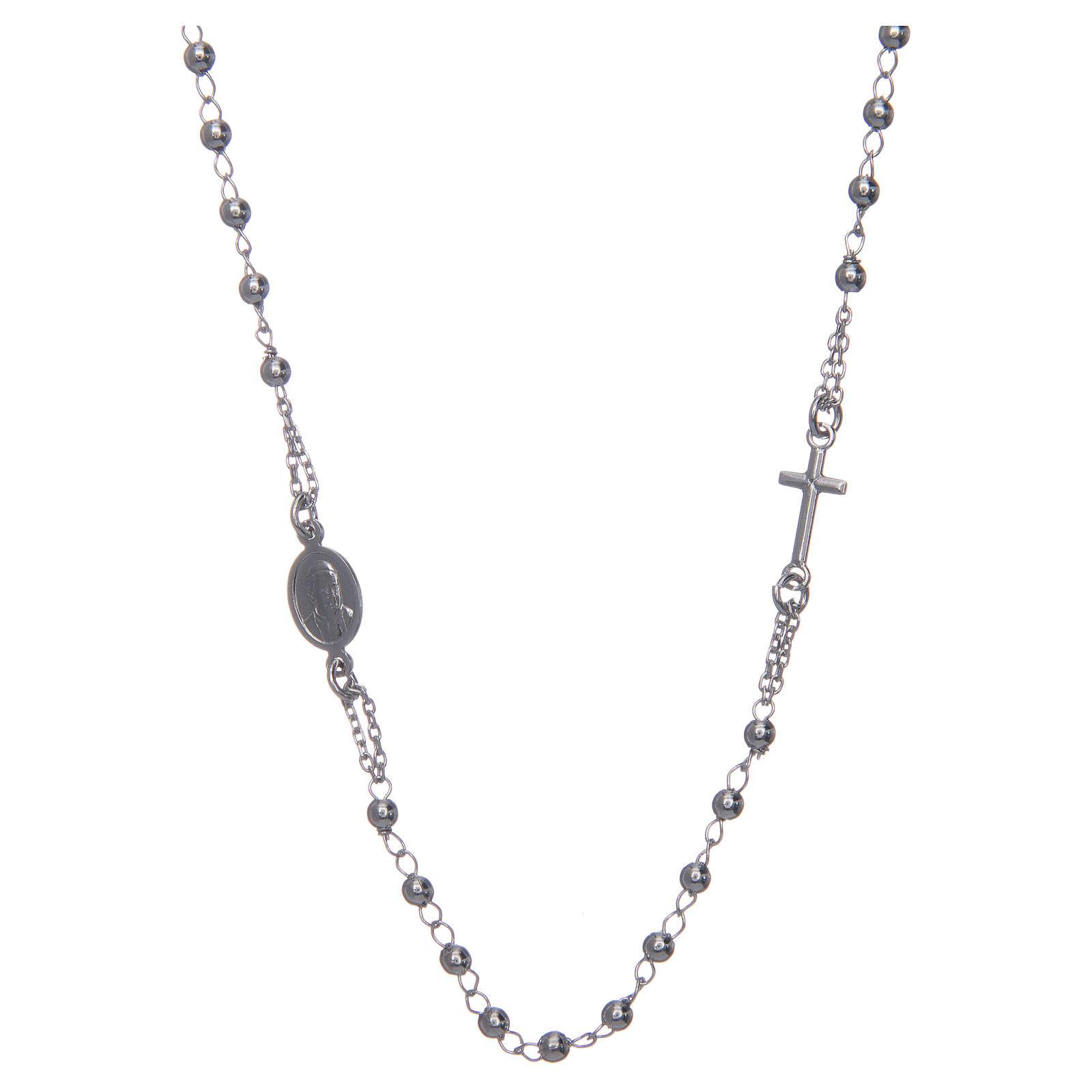 Rosary AMEN Necklace silver 925 Rhodium finish 4
