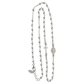Rosary AMEN Necklace silver 925 Rhodium finish s6