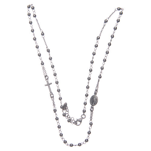 Rosary AMEN Necklace silver 925 Rhodium finish 3