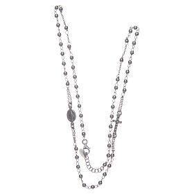 Rosary AMEN Necklace Pavè silver 925, Rhodium finish s3