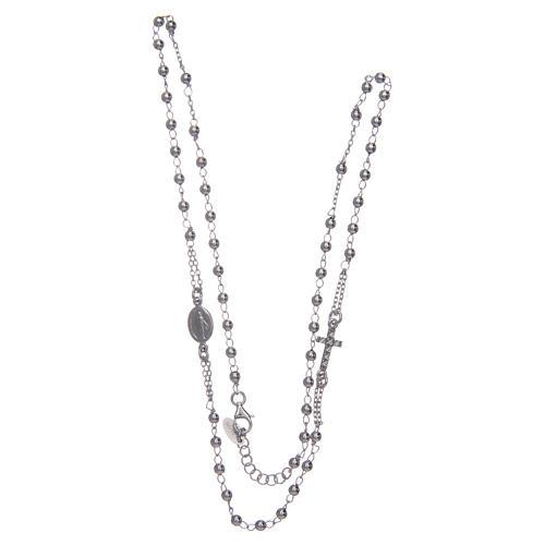 Collana rosario girocollo AMEN pavè argento 925 fin. Rodio 3