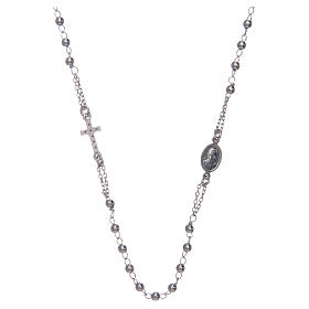 Rosary AMEN Necklace Pavè silver 925, Rhodium finish s2