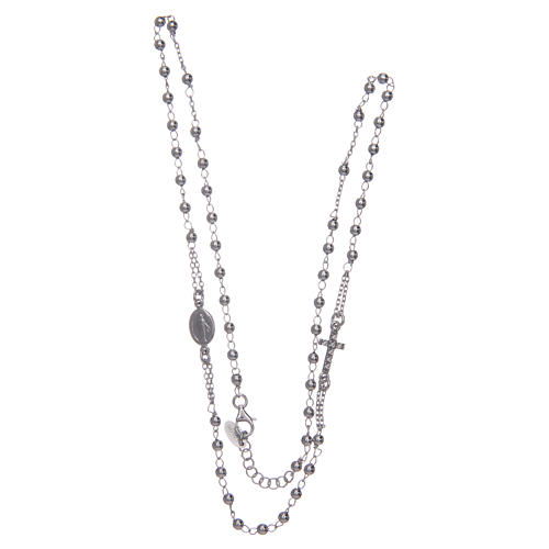 Rosary AMEN Necklace Pavè silver 925, Rhodium finish 3
